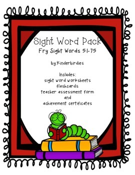 Sight Word Pack - Fry 51-75