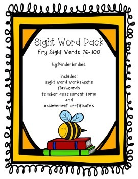 Sight Word Pack - Fry 76-100