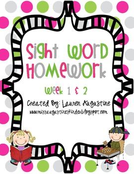 Sight Word Pack (week 1 & 2)
