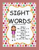 Sight Word Packages 1- 4 Bundled