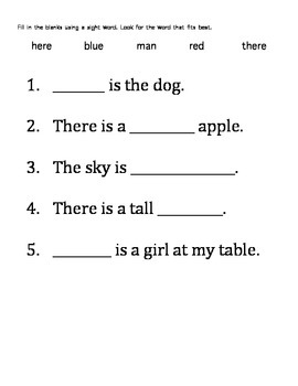 Sight Word Packet 2