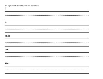 Sight Word Packet 4