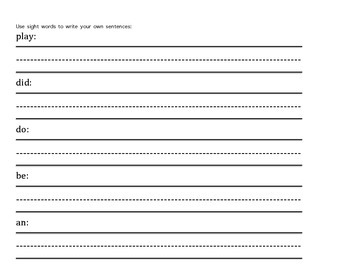 Sight Word Packet 8