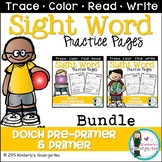 Sight Word Packet BUNDLE, Dolch Pre-Primer and Primer Words {No Prep}
