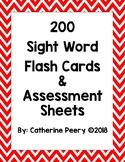 Sight Word Packet Chevron Frames (Editable)