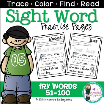 Sight Word Packet, K-1, Fry Words 51-100. Print & Go!