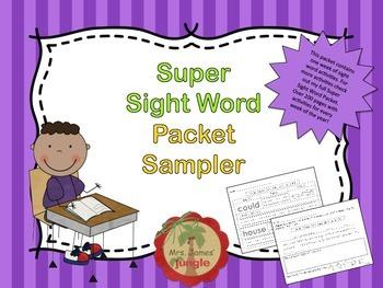 Sight Word Packet Sampler