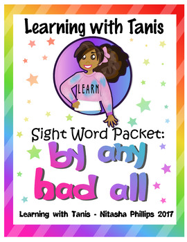 Sight Word Packet: any, by, had ,all