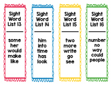 Sight Word Packet for Fry's 1st 100 Words