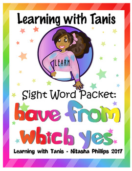 Sight Word Packet: have, which, from, yes