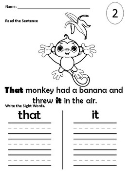 Sight Word Packet (that, it, he, was)
