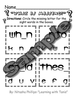 Sight Word Packet: when, into, could, these