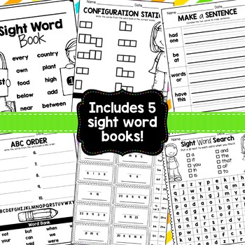 Sight Word Packets {First Fifty Fry Words}