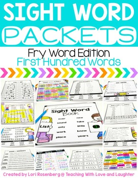 Sight Word Packets {First Hundred Fry Words}