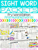 Sight Word Packets {First Hundred Fry Words} Distance Learning