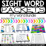 Sight Word Packets {Fry Word Bundle} Distance Learning