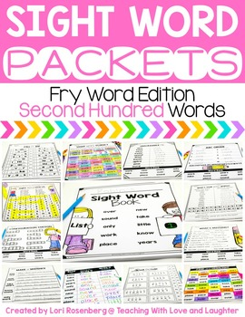 Sight Word Packets {Second Hundred Fry Words}