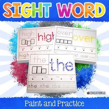 Sight Words Paint and Practice Bundle