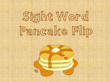 Sight Word Pancake Flip