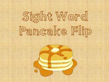 Sight Word Pancake Flip