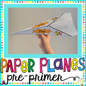 Sight Word Paper Planes Pre-Primer