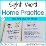 Sight Word Practice for Home