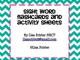 Sight Word Parent Letter, Flash Cards and 60 Activity Sheets