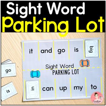 Kindergarten Sight Word Parking Lot Literacy Game