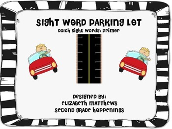 Sight Word Parking Lot Game-PRIMER