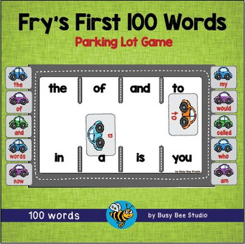 Sight Words Game: Parking Lot