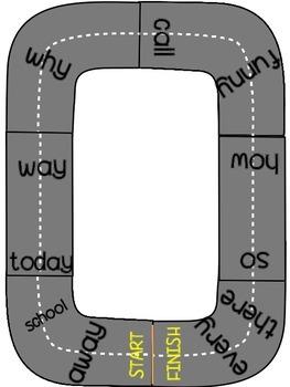 Sight Word Parking Lot Games {Set 3}