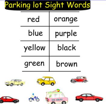 Sight Word Parking Lot~full set