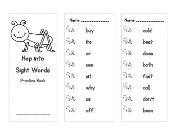 Sight Word Partner Activities (Dolch Second Grade)