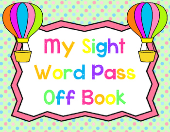 Sight Word Pass Off Book