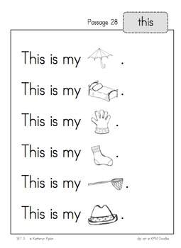 Sight Word Fluency Passages - Set 3