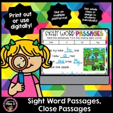 Sight Word Passages Slides - Distance Learning