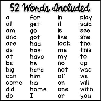 Sight Word Passages + Word Work - Beginning Readers