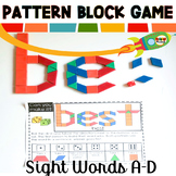 Sight Word Games Pattern Block Mats A-D