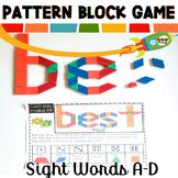 Sight Word Games Pattern Block Mats A-D