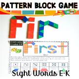 Sight Word Games Pattern Block Mats E-K