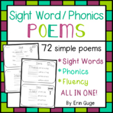Tricky Word Poems: Poems for Sight Words, Phonics, and Fluency!