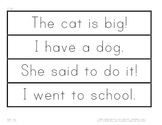 Sight Word Phrase Cards-Fluency