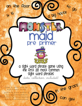 Sight Word Phrase Game BUNDLE! Complete with DATA COLLECTION!