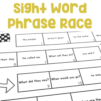 Sight Words Phrase Race