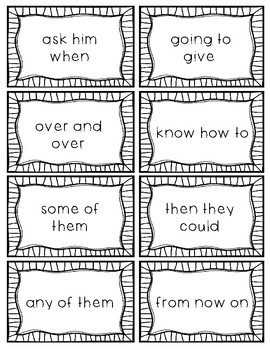 Sight Word Phrases - Dolch: First Grade