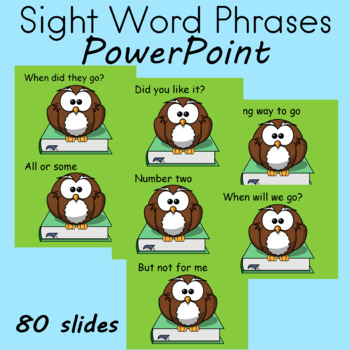 Sight Word Phrases FLUENCY Practice