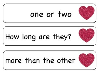 Sight Word Phrases: First 100 for February