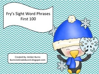 Sight Word Phrases: First 100 for January