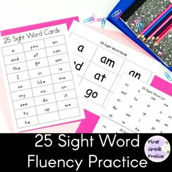 Sight Word Phrases Fluency Reads 25 Word List