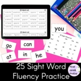 Sight Word Phrases Fluency Reads 25 Word List